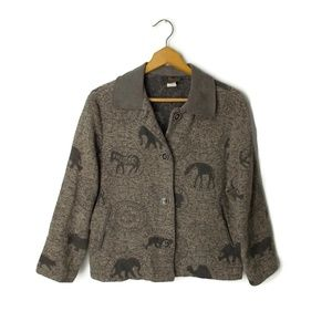 David Paul animal print jacket zebra giraffe